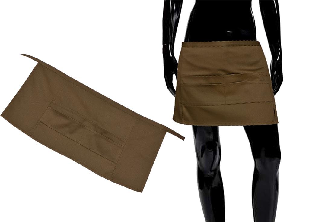 Передник Soavita, цвет: коричневый, 67 х 32 см49148Перед использованием постирать при температуре не выше 40 градусов