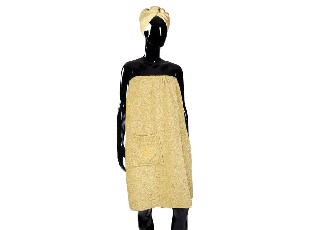 Набор для бани Soavita, цвет: бежевый, 2 предмета49372