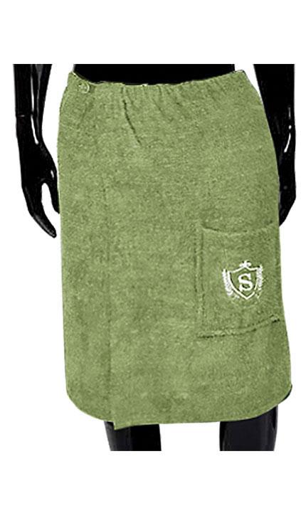 Килт для бани и сауны Soavita, цвет: зеленый, 60 х 140 см49377