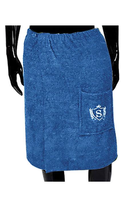 Килт для бани и сауны Soavita, цвет: синий, 60 х 140 см49379
