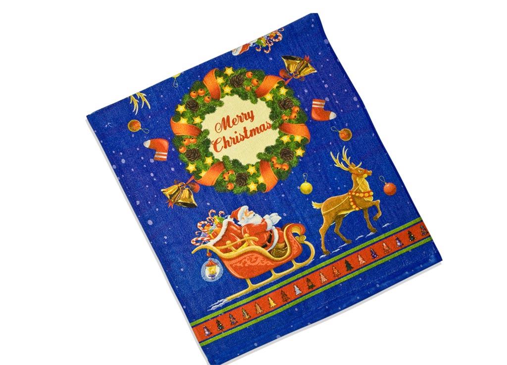 Полотенце кухонное Soavita Дед Мороз, 38 х 64 см51797Кухонное полотенце Soavita Дед Мороз, выполненное из высококачественной микрофибры, оформлено оригинальным новогодним рисунком. Микрофибра - материал высочайшего качества, изготовленный из сложных микроволокон, по ощущениям напоминает велюр и передающий уникальное и невероятное чувство мягкости. Ткань из микрофибры дышащая, устойчива к загрязнениям и пятнам, сохраняет свой высококачественный внешний вид и уникальную мягкость в течении всего срока службы. Изделие предназначено для использования на кухне и в столовой. Такое полотенце станет отличным вариантом для практичной и современной хозяйки.