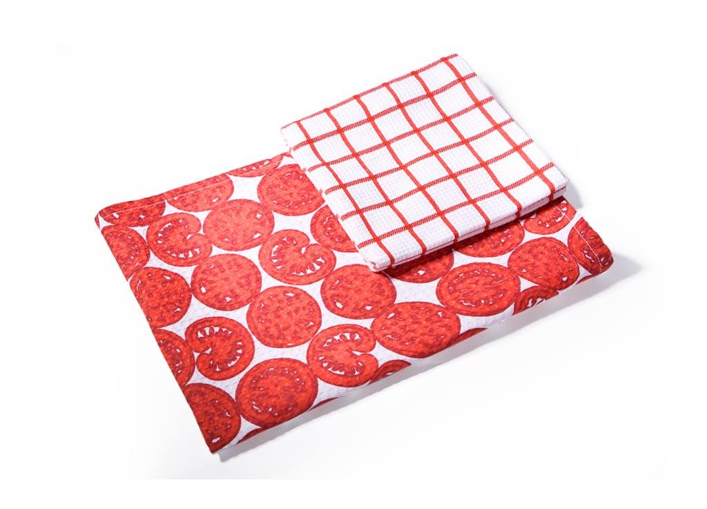 Набор кухонных полотенец Soavita Помидор цвет: красный, 40 х 60 см, 2 шт52342Перед использованием постирать при температуре не выше 40 градусов