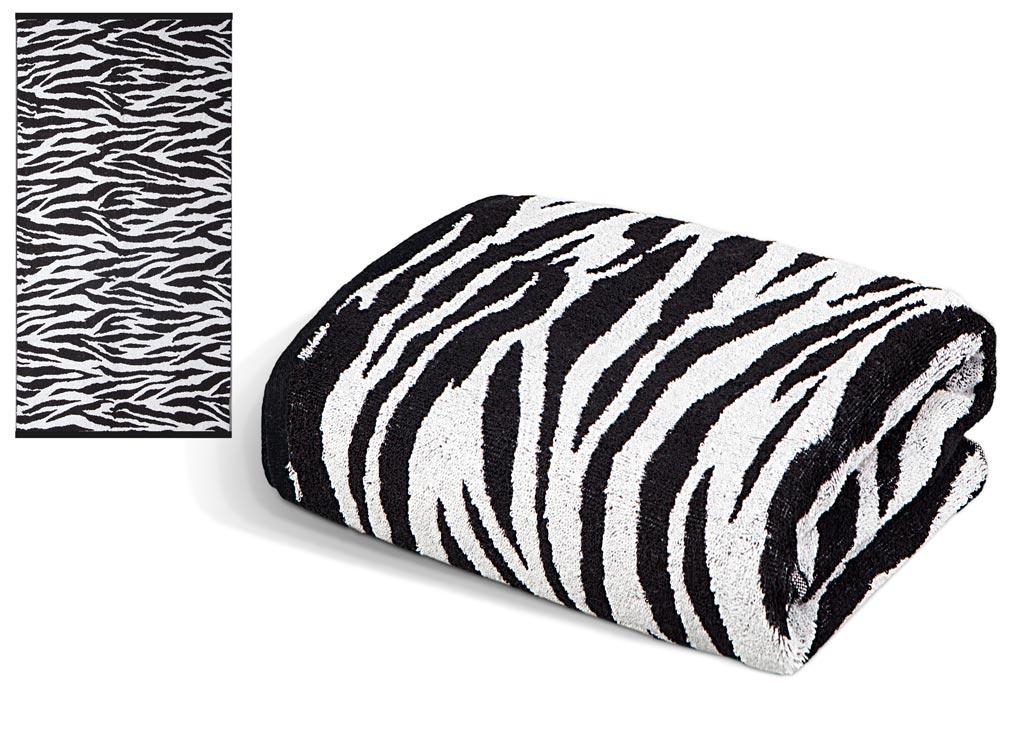 Полотенце Soavita Premium. Зебра, цвет: белый, черный, 65 х 130 см63832Перед использованием постирать при температуре не выше 40 градусов
