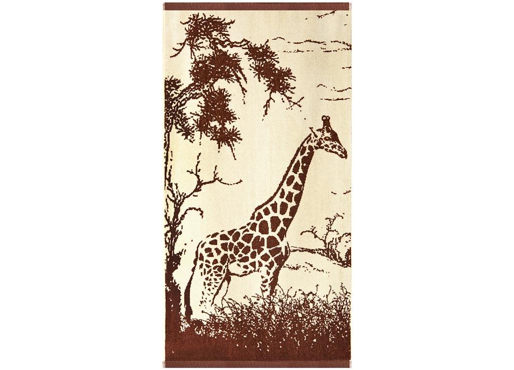 Полотенце Soavita Premium. Жираф, цвет: бежевый, коричневый, 45 х 90 см63833Перед использованием постирать при температуре не выше 40 градусов
