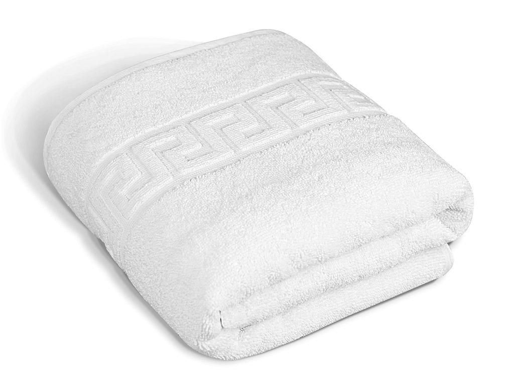 Полотенце Soavita Luxury. Жаккард, цвет: белый, 50 х 90 см65108Махровое полотно создается из хлопковых нитей, которые, в свою очередь, прядутся из множества хлопковых волокон. Чем длиннее эти волокна, тем прочнее будет нить, и, соответственно, изделие. Длина составляющих хлопковую нить волокон влияет и на фактуру получаемой ткани: чем они длиннее, тем мягче и пушистее получится махровое изделие, тем лучше будет впитывать изделие воду. Хотя на впитывающие качество махры – ее гигроскопичность, не в последнюю очередь влияет состав волокна. Мягкая махровая ткань отлично впитывает влагу и быстро сохнет. Soavita – это популярный бренд домашнего текстиля. Дизайнерская студия этой фирмы находится во Флоренции, Италия. Производство перенесено в Китай, чтобы сделать продукцию более доступной для покупателей. Таким образом, вы имеете возможность покупать продукцию европейского качества совсем не дорого. Домашний текстиль прослужит вам долго: все детали качественно прошиты, ткани очень плотные, рисунок наносится безопасными для здоровья красителями, не...
