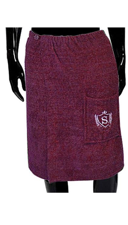 Килт для бани и сауны Soavita, цвет: бордовый, 60 х 140 см65631