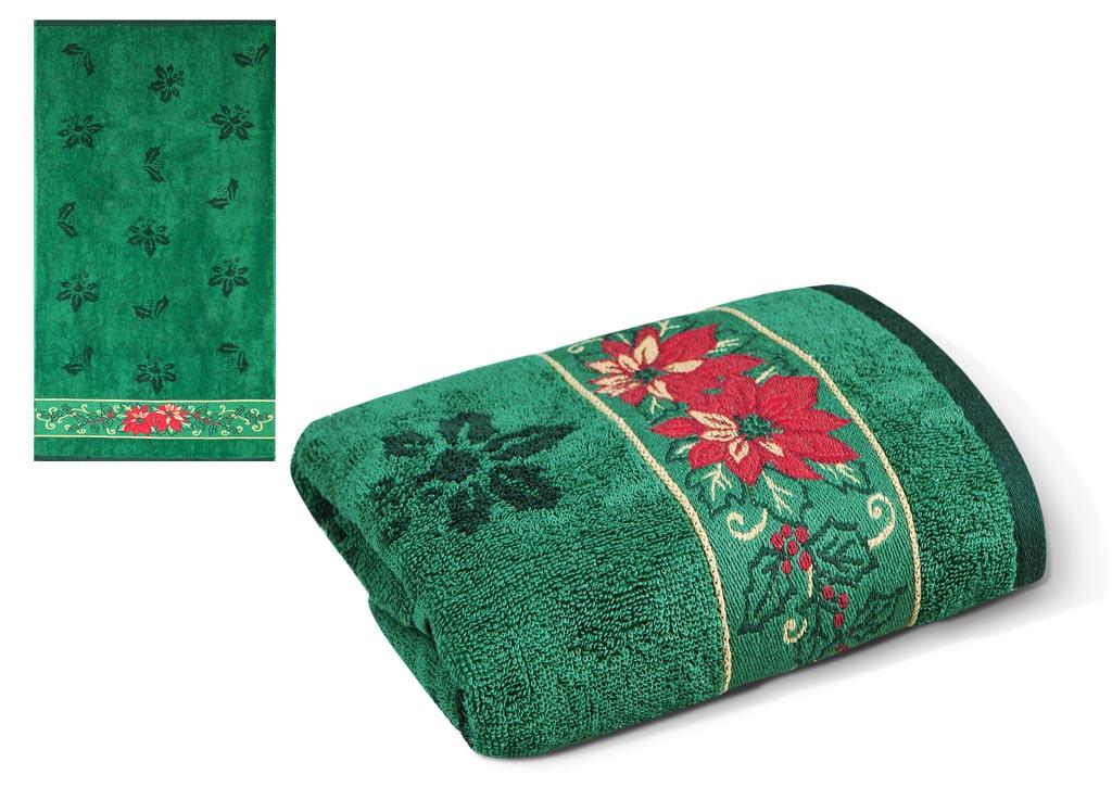 Полотенце Soavita Premium. Flower, цвет: зеленый, 70 х 130 см66020Перед использованием постирать при температуре не выше 40 градусов
