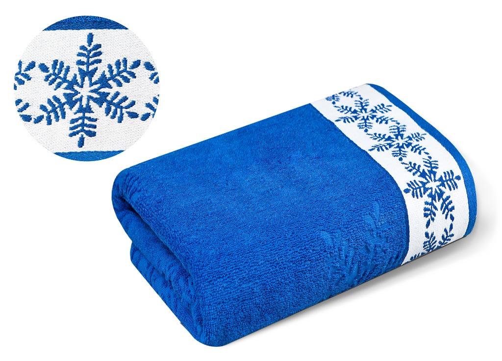 Полотенце Soavita Premium. Snow, цвет: синий, 70 х 130 см66023Перед использованием постирать при температуре не выше 40 градусов