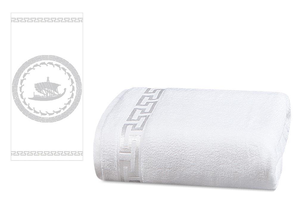 Полотенце Soavita Premium. Триера, цвет: белый, 45 х 80 см66155Перед использованием постирать при температуре не выше 40 градусов