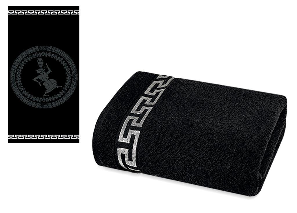 Полотенце Soavita Premium. Дайона, цвет: черный, 65 х 130 см66158Перед использованием постирать при температуре не выше 40 градусов
