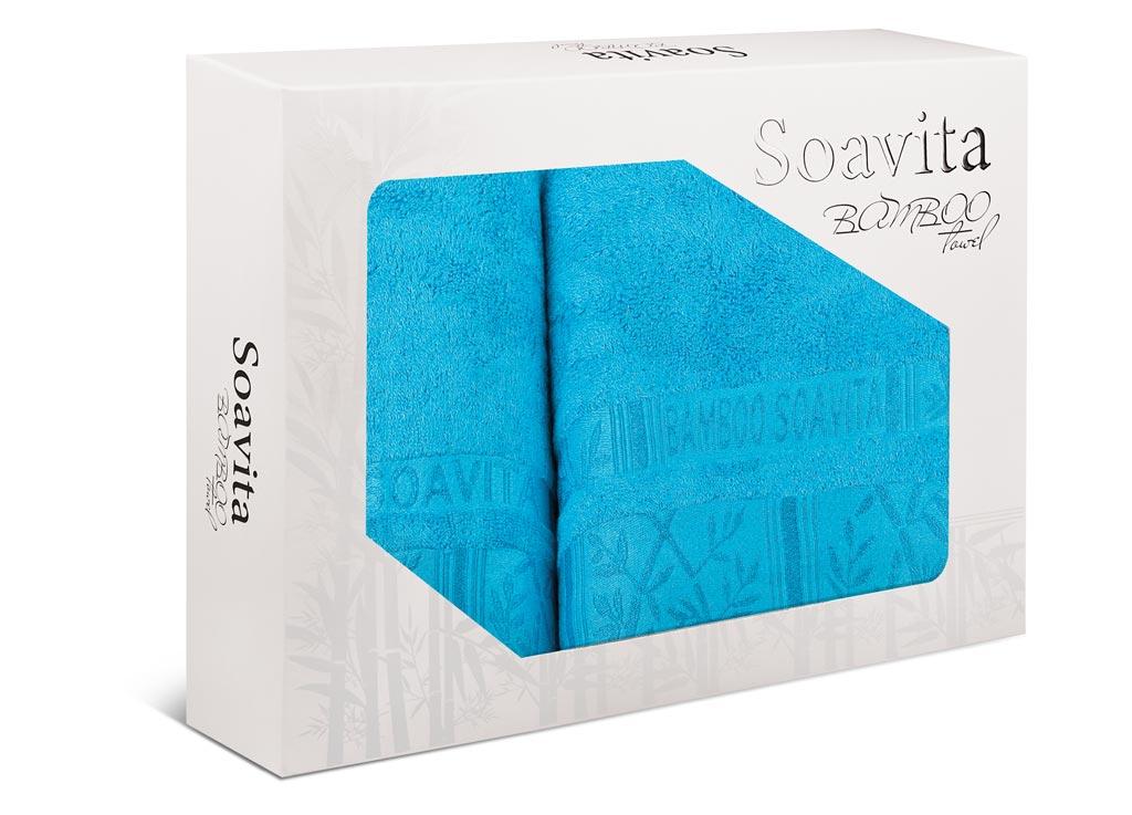Набор махровых полотенец Soavita Sofia, цвет: бирюзовый, 2 шт70011Махровое полотно создается из хлопковых нитей, которые, в свою очередь, прядутся из множества хлопковых волокон. Чем длиннее эти волокна, тем прочнее будет нить, и, соответственно, изделие. Длина составляющих хлопковую нить волокон влияет и на фактуру получаемой ткани: чем они длиннее, тем мягче и пушистее получится махровое изделие, тем лучше будет впитывать изделие воду. Хотя на впитывающие качество махры – ее гигроскопичность, не в последнюю очередь влияет состав волокна. Мягкая махровая ткань отлично впитывает влагу и быстро сохнет.