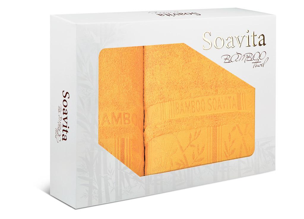 Набор махровых полотенец Soavita Sofia, цвет: желтый, 2 шт70012Махровое полотно создается из хлопковых нитей, которые, в свою очередь, прядутся из множества хлопковых волокон. Чем длиннее эти волокна, тем прочнее будет нить, и, соответственно, изделие. Длина составляющих хлопковую нить волокон влияет и на фактуру получаемой ткани: чем они длиннее, тем мягче и пушистее получится махровое изделие, тем лучше будет впитывать изделие воду. Хотя на впитывающие качество махры – ее гигроскопичность, не в последнюю очередь влияет состав волокна. Мягкая махровая ткань отлично впитывает влагу и быстро сохнет.