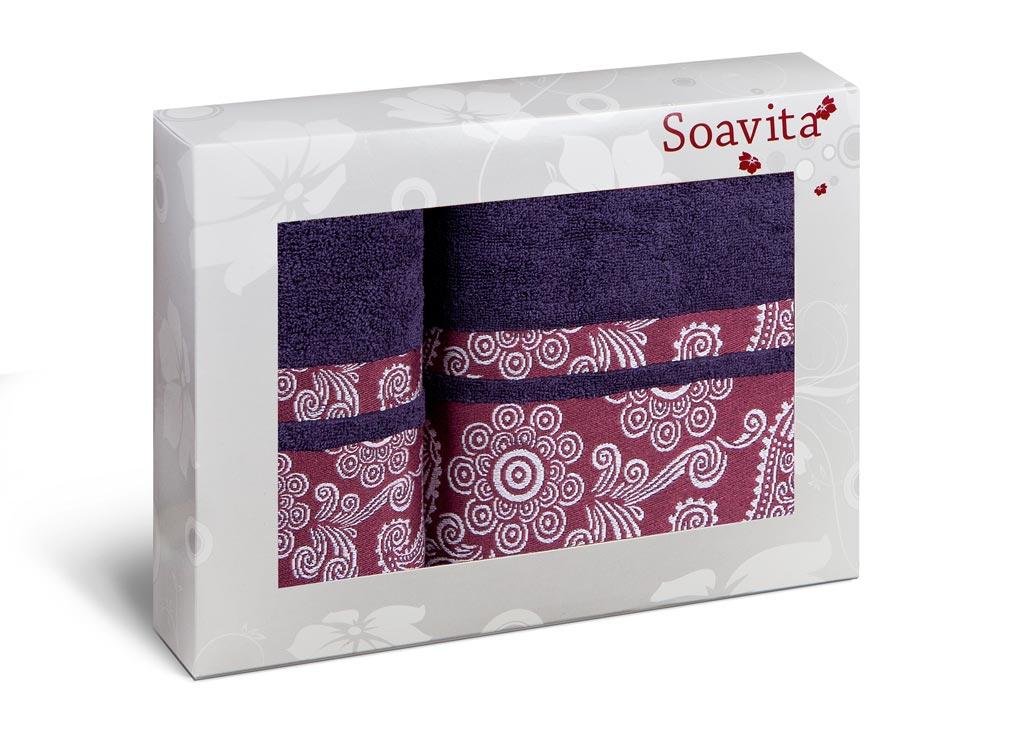 Набор полотенец Soavita Cocktail, цвет: черничный, 2 шт70326Набор Soavita Cocktail состоит из 2 махровых полотенец. Изделия выполнены из хлопка. Полотенца используются для протирки различных поверхностей, также широко применяются в быту. Такой набор станет отличным вариантом для практичной и современной хозяйки. Махровое полотно создается из хлопковых нитей, которые, в свою очередь, прядутся из множества хлопковых волокон. Чем длиннее эти волокна, тем прочнее будет нить, и, соответственно, изделие. Длина составляющих хлопковую нить волокон влияет и на фактуру получаемой ткани: чем они длиннее, тем мягче и пушистее получится махровое изделие, тем лучше будет впитывать изделие воду. Хотя на впитывающие качество махры - ее гигроскопичность, не в последнюю очередь влияет состав волокна. Мягкая махровая ткань отлично впитывает влагу и быстро сохнет. Размер полотенец: 50 х 90 см, 70 х 140 см.