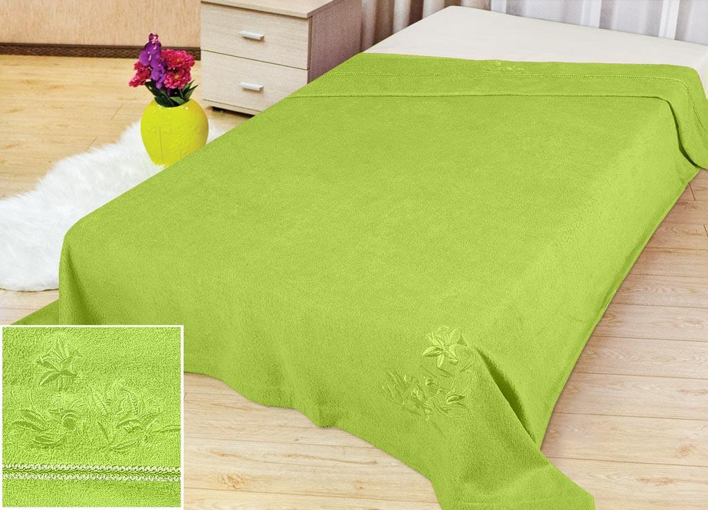 Покрывало летнее Soavita Бамбук, цвет: зеленый, 180 х 220 см70471Махровое полотно создается из хлопковых нитей, которые, в свою очередь, прядутся из множества хлопковых волокон. Чем длиннее эти волокна, тем прочнее будет нить, и, соответственно, изделие. Длина составляющих хлопковую нить волокон влияет и на фактуру получаемой ткани: чем они длиннее, тем мягче и пушистее получится махровое изделие, тем лучше будет впитывать изделие воду. Хотя на впитывающие качество махры – ее гигроскопичность, не в последнюю очередь влияет состав волокна. Мягкая махровая ткань отлично впитывает влагу и быстро сохнет. Soavita – это популярный бренд домашнего текстиля. Дизайнерская студия этой фирмы находится во Флоренции, Италия. Производство перенесено в Китай, чтобы сделать продукцию более доступной для покупателей. Таким образом, вы имеете возможность покупать продукцию европейского качества совсем не дорого. Домашний текстиль прослужит вам долго: все детали качественно прошиты, ткани очень плотные, рисунок наносится безопасными для здоровья красителями, не...
