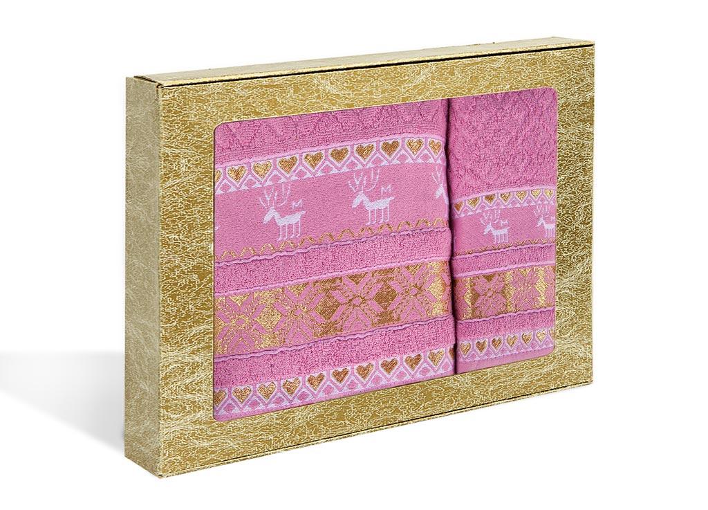 Набор махровых полотенец Soavita Marco, цвет: розовый, 2 шт71208Махровое полотно создается из хлопковых нитей, которые, в свою очередь, прядутся из множества хлопковых волокон. Чем длиннее эти волокна, тем прочнее будет нить, и, соответственно, изделие. Длина составляющих хлопковую нить волокон влияет и на фактуру получаемой ткани: чем они длиннее, тем мягче и пушистее получится махровое изделие, тем лучше будет впитывать изделие воду. Хотя на впитывающие качество махры – ее гигроскопичность, не в последнюю очередь влияет состав волокна. Мягкая махровая ткань отлично впитывает влагу и быстро сохнет.