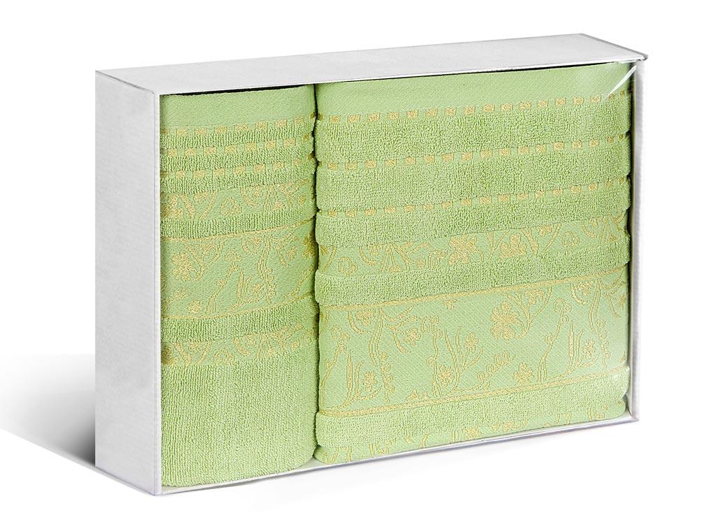 Набор махровых полотенец Soavita Sandra, цвет: зеленый, 2 шт71214Махровое полотно создается из хлопковых нитей, которые, в свою очередь, прядутся из множества хлопковых волокон. Чем длиннее эти волокна, тем прочнее будет нить, и, соответственно, изделие. Длина составляющих хлопковую нить волокон влияет и на фактуру получаемой ткани: чем они длиннее, тем мягче и пушистее получится махровое изделие, тем лучше будет впитывать изделие воду. Хотя на впитывающие качество махры – ее гигроскопичность, не в последнюю очередь влияет состав волокна. Мягкая махровая ткань отлично впитывает влагу и быстро сохнет.