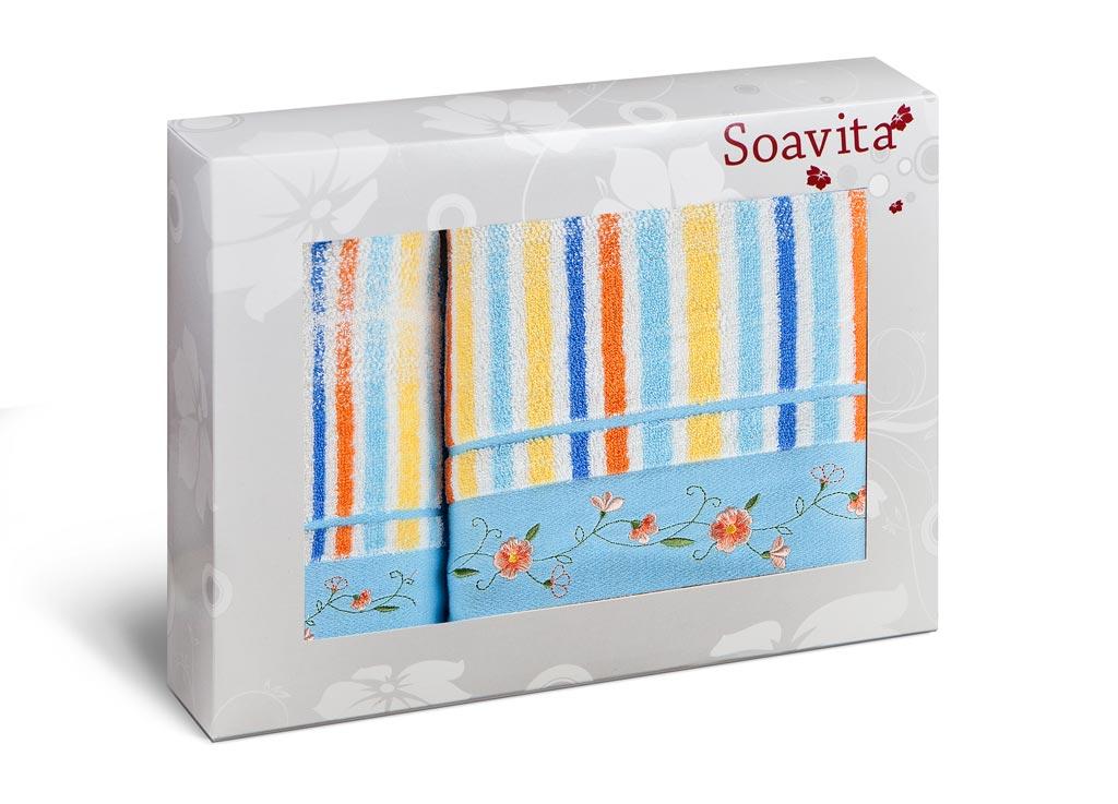 Набор полотенец Soavita Premium. Lily, цвет: голубой, оранжевый, желтый, 2 шт71237Набор полотенец Soavita Premium. Lily выполнен из 100% хлопка. Изделия отлично впитывают влагу, быстро сохнут, сохраняют яркость цвета и не теряют форму даже после многократных стирок. Полотенца очень практичны и неприхотливы в уходе. Набор Soavita создаст прекрасное настроение и украсит интерьер в ванной комнате.