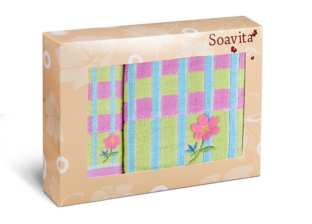 Набор махровых полотенец Soavita Linda, цвет: розовый, 2 шт71241Махровое полотно создается из хлопковых нитей, которые, в свою очередь, прядутся из множества хлопковых волокон. Чем длиннее эти волокна, тем прочнее будет нить, и, соответственно, изделие. Длина составляющих хлопковую нить волокон влияет и на фактуру получаемой ткани: чем они длиннее, тем мягче и пушистее получится махровое изделие, тем лучше будет впитывать изделие воду. Хотя на впитывающие качество махры – ее гигроскопичность, не в последнюю очередь влияет состав волокна. Мягкая махровая ткань отлично впитывает влагу и быстро сохнет. Soavita – это популярный бренд домашнего текстиля. Дизайнерская студия этой фирмы находится во Флоренции, Италия. Производство перенесено в Китай, чтобы сделать продукцию более доступной для покупателей. Таким образом, вы имеете возможность покупать продукцию европейского качества совсем не дорого. Домашний текстиль прослужит вам долго: все детали качественно прошиты, ткани очень плотные, рисунок наносится безопасными для здоровья красителями, не...