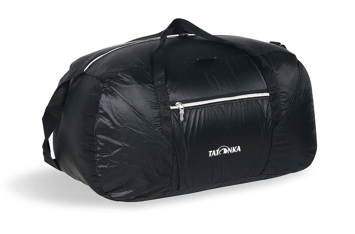 Сумка складная Tatonka Squeezy Duffle L, цвет: черный, 65 л2225.040Сумка Squeezy Duffle L - идеальный спутник в любом путешествии или походе за покупками. У сложенном виде сумка занимает минимум места (15x14x6 см). При необходимости ее легко разложить в объемную (65 литров) сумку.
