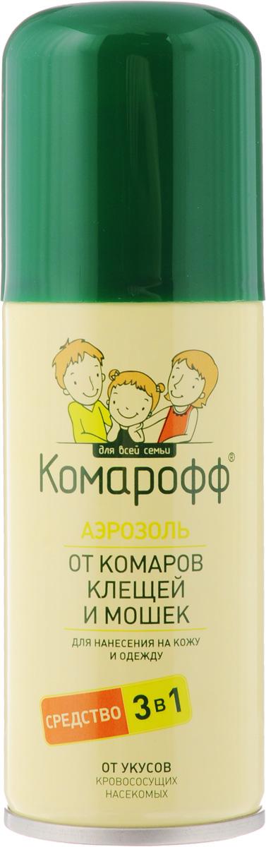 """Аэрозоль от насекомых """"Комарофф"""", 3 в 1, 100 мл 66702708"""