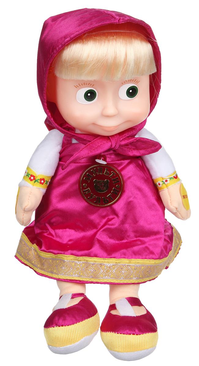 Мульти-Пульти Мягкая озвученная игрушка Маша 3 сказки 30 смV85833/30Y (12)Мягкая озвученная игрушка Мульти-Пульти Маша вызовет улыбку у каждого, кто ее увидит! Игрушка выполнена в виде Маши - главной героини популярного мультфильма Маша и Медведь. Туловище игрушки - мягконабивное, голова - пластиковая. Одета она в свой любимый сарафан, на голове повязан платочек такого же цвета, под ним - длинные светлые волосы. Кукла озвучена и может рассказать 3 сказки - Репка, Теремок и Колобок на новый лад. Для этого необходимо нажать на одну из ее ручек. При нажатии на вторую ручку воспроизведение приостановится. Нажав на ножку Маши, можно регулировать уровень громкости звука. Игрушка подарит своему обладателю хорошее настроение и позволит насладиться обществом любимой героини. Для работы игрушки необходимо докупить 3 батарейки типа ААА (товар комплектуется демонстрационными).