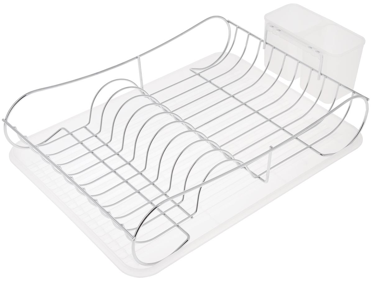Сушилка для посуды Bekker Koch, с поддоном, 43 х 32,5 х 11,5 см. BK-5510BK-5510Сушилка Bekker Koch, изготовленная из нержавеющей стали, представляет собой решетку с ячейками для посуды и подставки для столовых приборов. Изделие оснащено пластиковым поддоном для стекания воды. Сушилка Bekker Koch не займет много места на вашей кухне. Вы сможете разместить на ней большое количество предметов. Компактные размеры и оригинальный дизайн выделяют эту сушилку из ряда подобных. Размер сушилки: 43 х 32,5 х 11,5 см. Размер поддона: 43 х 32,5 х 2,5 см. Размер секции для приборов: 16 х 8,5 х 10 см.