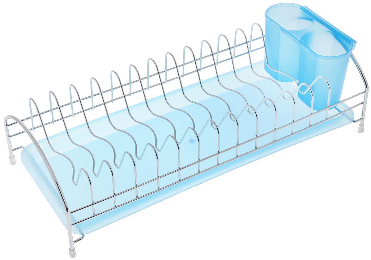 Сушилка для посуды Bekker Koch, с поддоном, 43 х 18 х 12 см. BK-5509BK-5509Сушилка Bekker Koch, изготовленная из нержавеющей стали, представляет собой решетку с ячейками для посуды. Изделие оснащено пластиковым поддоном для стекания воды и поставкой под столовые приборы. Сушилка Bekker Koch не займет много места на вашей кухне. Вы сможете разместить на ней большое количество предметов. Компактные размеры и оригинальный дизайн выделяют эту сушилку из ряда подобных. Размер сушилки: 43 х 18 х 12 см. Размер поддона: 42 х 18 х 2,5 см. Размер подставки: 15 х 6,5 х 9,5 см.