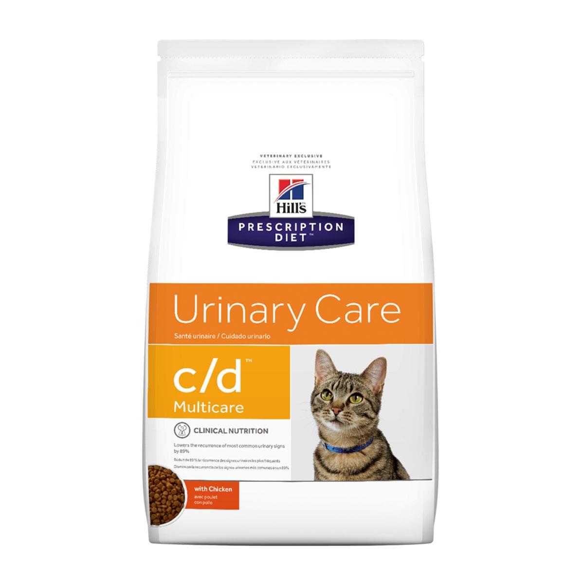 """Корм сухой диетический Hill's """"C/D"""" для кошек, профилактика МКБ и струвитов, с курицей, 5 кг"""
