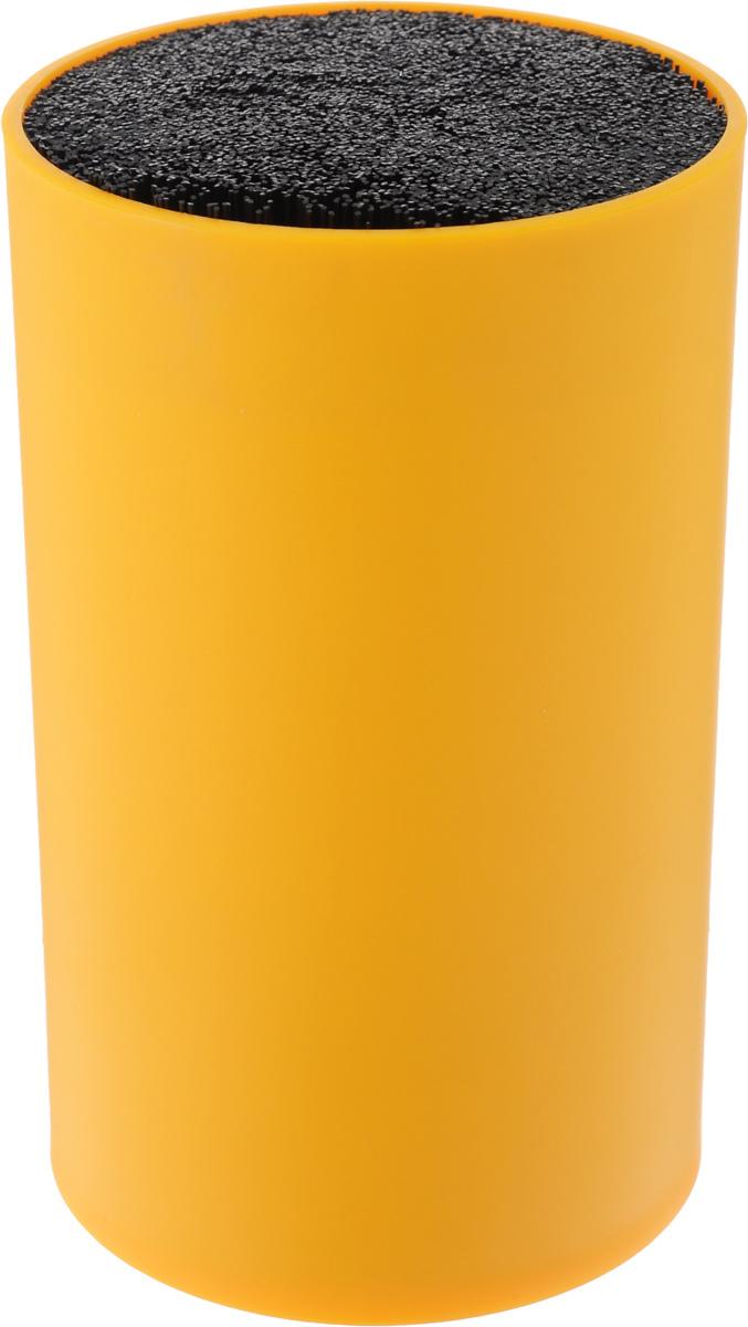 Подставка для ножей Mayer & Boch, цвет: оранжевый. 2424324243-3Подставка для ножей Mayer & Boch отлично дополнит интерьер вашей кухни. Корпус и специальные волокна выполнены из полипропилена. Изделие отвечает всем нормам гигиенических требований, так как при необходимости наполнитель свободно вынимается и моется в посудомоечной машине. Подставка станет прекрасным подарком, а ее яркий дизайн станет украшением вашей кухни. Можно мыть в посудомоечной машине. Высота подставки: 18 см. Диаметр подставки: 11 см.