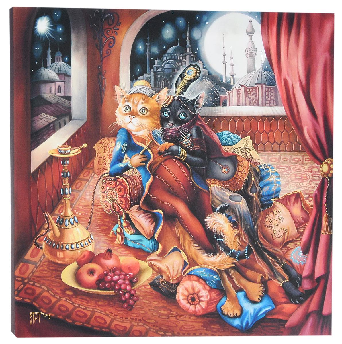 КвикДекор Картина детская Восточная сказкаAP-00801-00017-Cn5050Картина КвикДекор Восточная сказка - это прекрасное украшение для вашей гостиной, детской или спальни. Она привнесет в интерьер яркий акцент и сделает обстановку комфортной и уютной. Автор картины - Надежда Соколова - родилась в 1973 году в городе Дрездене. В 1986-1990 годах училась в Художественной школе города Новгорода. В 1995 году окончила с отличием рекламное отделение Новгородского училища культуры. В 2000 году защитила диплом на факультете Искусств и Технологий НовГУ имени Ярослава Мудрого. Выставляется с 1996 года. Работает в техниках: живопись, графика, батик, лаковая миниатюра, авторская кукла. Является автором оригинального стиля в миниатюре. Изделие представляет собой картину с латексной печатью на натуральном хлопчатобумажном холсте. Галерейная натяжка на деревянный подрамник выполнена очень аккуратно, а боковые части картины запечатаны тоновой заливкой. Обратная сторона подрамника содержит отверстие, благодаря которому картину можно легко закрепить на стене и...