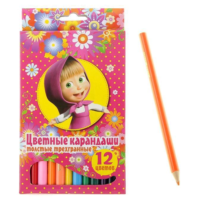 Маша и Медведь Карандаши цветные 12 цветов