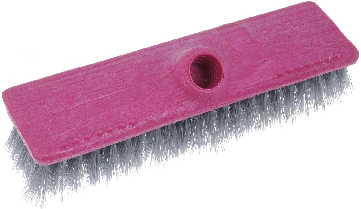 Щетка-насадка для пола Мир чистоты, со скребком, цвет: лиловый. SP002SP002Щетка-насадка для пола Мир чистоты, изготовленная из полипропилена, предназначена для уборки сухого мусора. Изделие оснащено универсальной резьбой, которая подходит ко всем видам ручек, а также скребком. Упругий ворс максимально быстро без лишних усилий позволит собрать мусор из самых труднодоступных мест. Размер щетки: 24 х 6,7 х 7 см. Длина ворса: 3 см. Диаметр отверстия под ручку: 2,2 см.