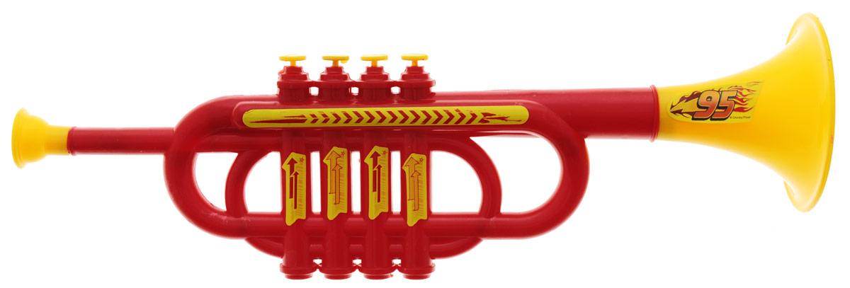 Играем вместе Труба Тачки цвет красныйB355931-R3Яркая музыкальная игрушка Играем вместе Тачки выполнена из безопасного пластика в виде трубы, украшенной изображением символики мультфильма Тачки. На ее корпусе расположены кнопки желтого цвета и желтый мундштук. Труба Играем вместе Тачки способствует развитию у ребенка музыкальных способностей, а также цветового и звукового восприятия, мелкой моторики рук и воображения.