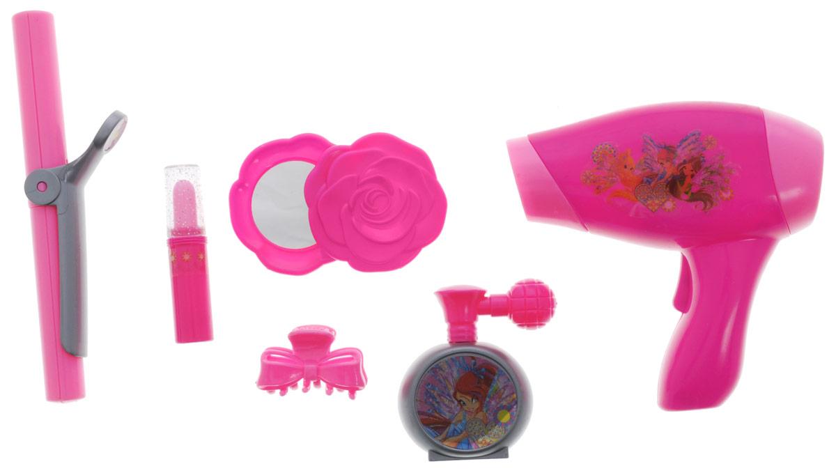 Играем вместе Набор аксессуаров для девочек Winx 6 предметов BE054-RBE054-RТеперь родителям не нужно ломать голову, какой оригинальный, а главное интересный подарок сделать своему ребенку на праздник. Аксессуары Играем вместе Winx - это удивительный набор для юных модниц, который позволит стать настоящей принцессой. С его помощью ваш ребенок сможет создавать прически и открывать все секреты красоты. В набор входит фен, имитирующий работу настоящего фена, стайлер, зеркало, духи, помада, заколка для волос. Для работы фена необходима 1 батарейка типа АА (не входит в комплект).
