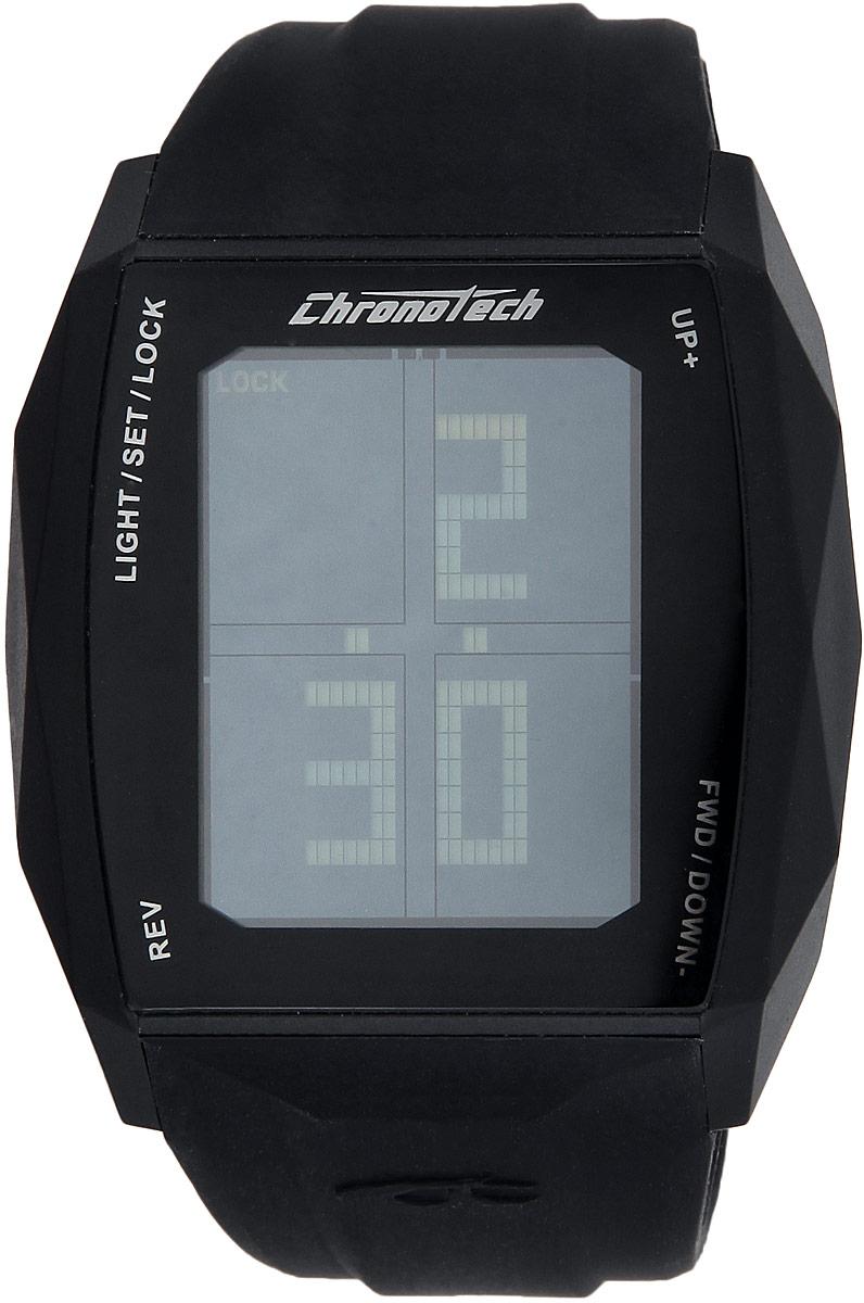 Часы наручные Chronotech Chronotouch, цвет: черный. RW0021RW0021Стильные часы Chronotech Chronotouch, выполнены из нержавеющей стали, пластика, минерального стекла и каучука. Часы оформлены символикой бренда. Часы оснащены оригинальным корпусом с сенсорным дисплеем и кварцевым механизмом, имеют степень влагозащиты равную 3 BAR. Сенсорный дисплей дополнен подсветкой. Дополнительные функции: таймер, хронограф, будильник, секундомер, автоматический календарь, отображение времени в 12-часовом или 24-часовом формате. Каучуковый ремешок часов оснащен застежкой-пряжкой, которая позволит с легкостью снимать и надевать изделие. Часы поставляются в фирменной упаковке. Часы современного дизайна Chronotech Chronotouch подчеркнут отменное чувство стиля.