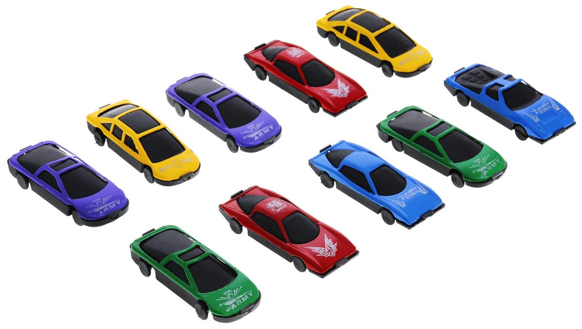 Little Ant Набор машинок Auto World 10 штB1213974 (240)Набор машинок Little Ant Auto World понравится любому мальчику. В набор входит 10 спортивных и гоночных автомобилей в масштабе 1:64. Каждая машинка имеет индивидуальную форму и раскраску. Машинки изготовлены из качественных и безопасных материалов. Имея такой автопарк, можно устраивать соревнования и гонки с друзьями. Благодаря разнообразию моделей и цветов скучать будет некогда.