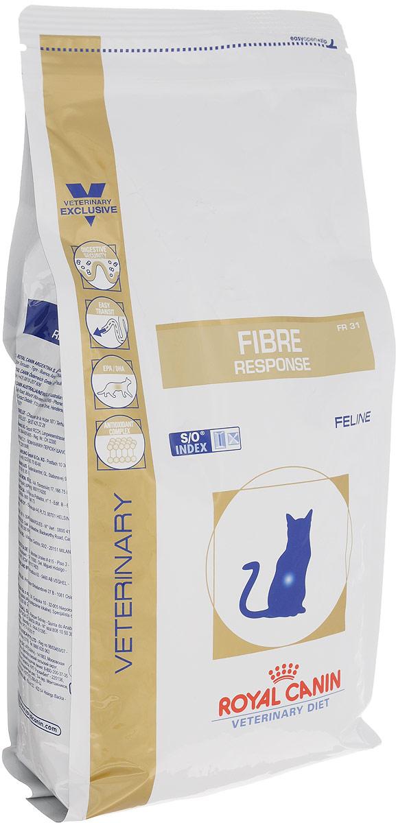 Корм сухой для кошек Royal Canin Fibre Response, диетический, при острых и хронических запорах, 2 кг35174Сухой диетический корм Royal Canin Fibre Response предназначен для кошек при остром или хроническом запоре. Противопоказан при кишечной непроходимости и расширении толстого кишечника (мегаколон). Длительность курса применения: При первых проявлениях заболевания применять в течение 3-4 недель. При хронических запорах необходимо длительное применение диеты. Сочетание высокоусвояемых белков (L. I. P. белки), пребиотиков, свекольного жома, риса и рыбьего жира обеспечивает максимальную защиту пищеварительной системы. Высокое содержание разных видов клетчатки (в том числе подорожника) улучшает кишечный транзит и размягчает фекалии у кошек, страдающих от запоров и низкой моторики кишечника. Длинноцепочечные жирные кислоты Омега 3 (эйкозапентаеновая и докозагексаеновая) уменьшают кожные реакции и обеспечивают целостность слизистой оболочки кишечника. Комплекс антиоксидантов синергичного действия снижает уровень ...