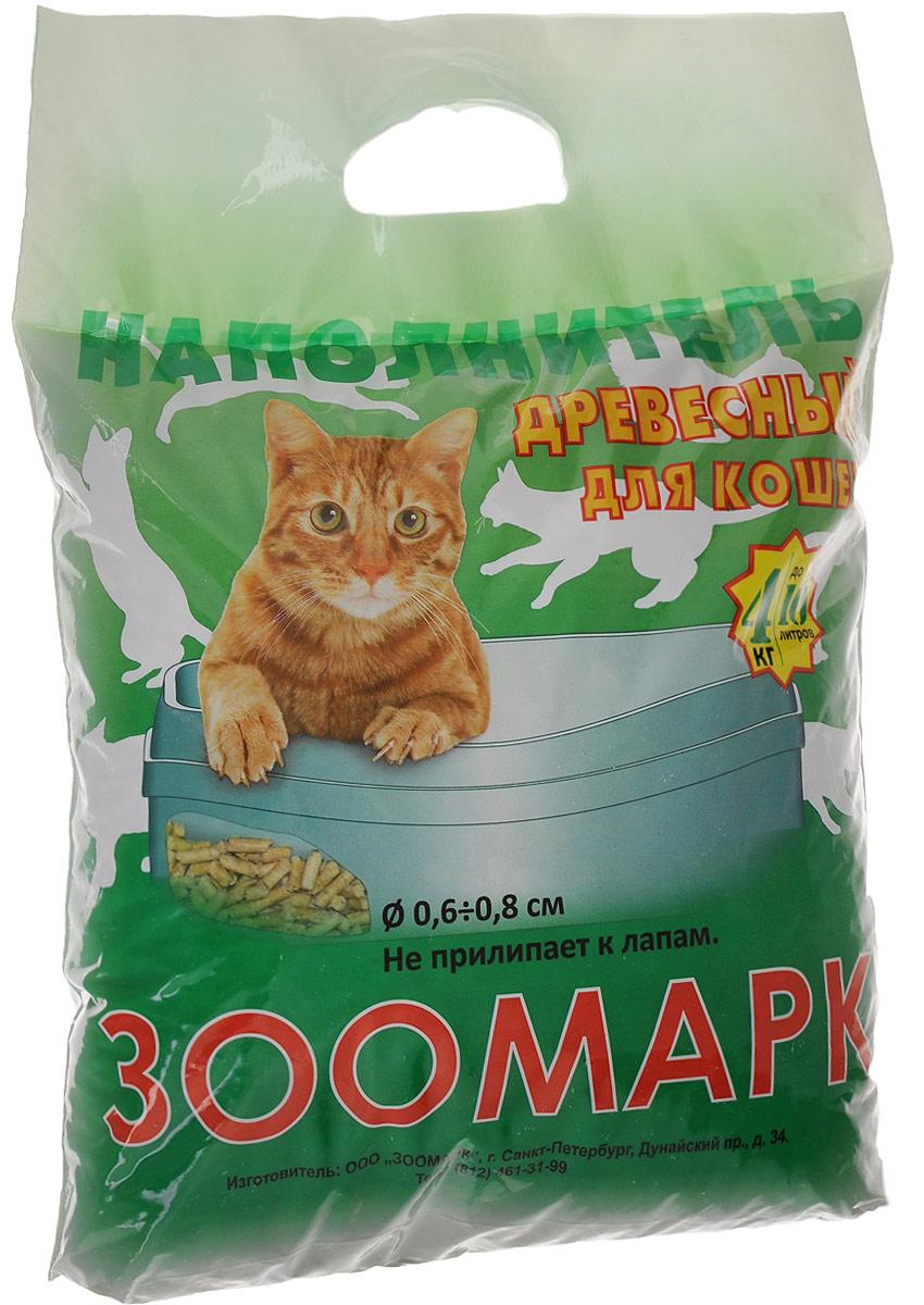 """Наполнитель для кошек """"Зоомарк"""", древесный, 4 кг НК-2"""