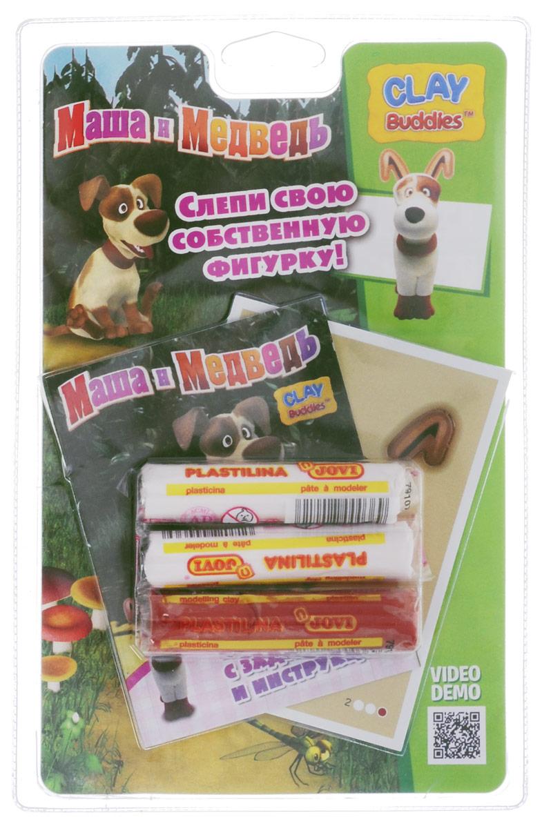 Giromax Набор для лепки Маша и Медведь СобакаG 306420_собакаНабор для лепки Giromax Маша и Медведь. Собака позволит вашему ребенку создать поделку в виде собачки - персонажа популярного мультсериала Маша и Медведь. Набор включает в себя три бруска пластилина белого и коричневого цветов, лист с красочными элементами для оформления поделки, липучку для наклеивания элементов, а также брошюру с заданиями и инструкцию. Работа с пластилином для лепки подарит вашему ребенку положительные эмоции, а также поможет развить мелкую моторику рук, внимательность и усидчивость.