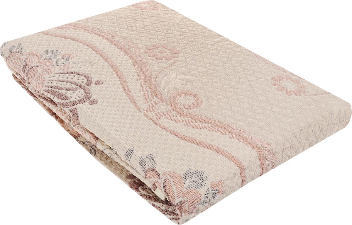 Покрывало Arya Tay-Pen, цвет: светло-коричневый, красный, 240 х 240 см. 10901090_Design 40Покрывало Arya Tay-Pen прекрасно оформит интерьер спальни или гостиной. Изделие изготовлено из 100% полиэстера. Жаккардовые покрывала уникальны, так как они практичны и универсальны в использовании. Жаккардовые ткани, хорошо сохраняют окраску, слабо подвержены влиянию перепадов температур. Своеобразный рельефный рисунок, который получается в результате сложного переплетения на плотной ткани, напоминает гобелен. Изделие долговечно, надежно и легко стирается. Покрывало Arya Tay-Pen не только подарит тепло, но и гармонично впишется в интерьер вашего дома.