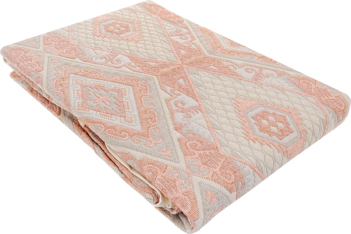 Покрывало Arya Tay-Pen, цвет: серый, розовый, 240 х 240 см. 1090_031090_Design 03Покрывало Arya Tay-Pen прекрасно оформит интерьер спальни или гостиной. Изделие изготовлено из 100% полиэстера. Жаккардовые покрывала уникальны, так как они практичны и универсальны в использовании. Жаккардовые ткани хорошо сохраняют окраску, слабо подвержены влиянию перепадов температур. Своеобразный рельефный рисунок, который получается в результате сложного переплетения на плотной ткани, напоминает гобелен. Изделие долговечно, надежно и легко стирается. Покрывало Arya Tay-Pen не только подарит тепло, но и гармонично впишется в интерьер вашего дома.