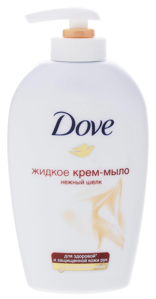 Dove Жидкое крем-мыло Нежный шелк 250 мл65420694Мягкое средство для очищения кожи, обладающее мягким, нераздражающим действием и неповреждающее защитный слой кожи Эффективно увлажняет кожу и не повреждает защитный слой кожи. Шелк так роскошно выглядит и так гладок на ощупь. Ваша кожа может быть такой же! 1/4 увлажняющего крема и ухаживающие компоненты серии Dove Сияние шелка сделают Вашу кожу гладкой и сияющей, как шелк. Сияет кожа - блистаете Вы!