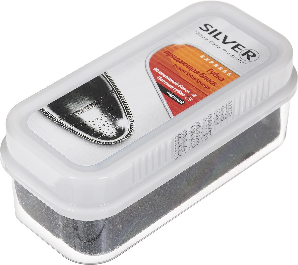 Губка для обуви Silver, придающая блеск, цвет: черный, 11 х 5 х 4,5 смPS1002-01/B3G30-1Губка Silver с силиконовым маслом предназначена для ухода за обувью из гладкой кожи, она придает ей естественный блеск. Не использовать для замши, нубука и текстиля. Размер: 11 х 5 х 4,5 см. Состав: > 90% силиконовое масло, Товар сертифицирован.