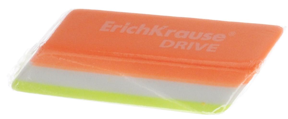 Erich Krause Ластик Drive цвет оранжевый салатовый белый