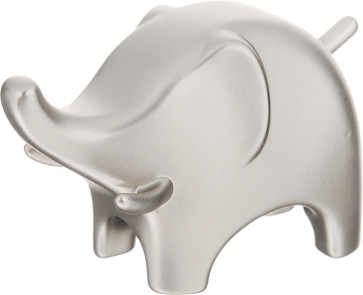 Подставка для колец Umbra Слон, цвет: стальной299114-153_стальнойПодставка для колец Umbra Слон изготовлена из цинка. Изделие выполнено в виде слона. Изящная подставка оригинального дизайна станет изысканным подарком для модницы, ценящей красивые и оригинальные вещицы. Подставка для колец Umbra Слон благодаря своей практичности и необычности станет не только идеальным подарком представительнице прекрасного пола, но и изысканным украшением интерьера. Размер фигурки: 7 х 3 х 4,5 см.