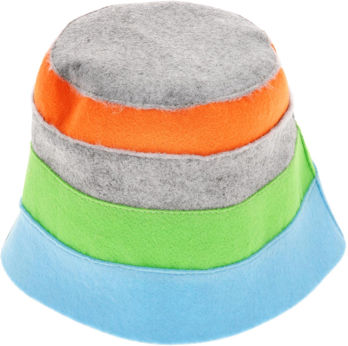 Шапка для бани и сауны Доктор баня В полоску, цвет: голубой, светло-зеленый, серый905254_голубой, светло-зеленый, серыйШапка для бани и сауны Доктор баня В полоску, выполненная из 100% полиэстера, является оригинальным и незаменимым аксессуаром для любителей попариться в русской бане и для тех, кто предпочитает сухой жар финской бани. Необычный дизайн изделия поможет сделать ваш отдых более приятным и разнообразным. При правильном уходе шапка прослужит долгое время. Обхват головы: 60 см.