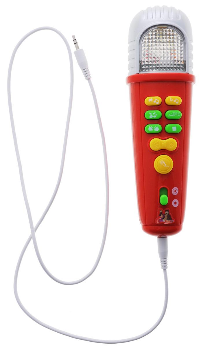 Умка Музыкальная игрушка Караоке-микрофон Маша и Медведь2077-07Караоке-микрофон Маша и Медведь - это прекрасная развивающая игрушка для малыша! Микрофон может воспроизводить 5 песен из мультфильма, 5 караоке-мелодий, звук аплодисментов. Имеется возможность смены тональности, подключения mp3, регулировки громкости. Работа микрофона сопровождается световыми эффектами. Игрушка способствует развитию мелкой моторики, познавательной и творческой активности, памяти, артистизма. Для работы игрушки необходимы 2 батарейки напряжением 1,5V типа АА (товар комплектуется демонстрационными).