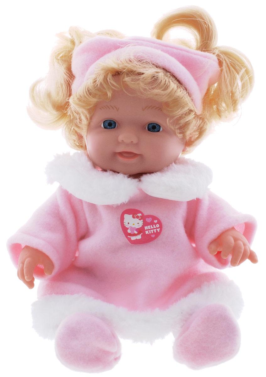 Карапуз Пупс озвученный Нello Кitty в розовой шубке30205-HELLO KITTYПупс озвученный Карапуз Нello Кitty порадует вашу малышку и подарит массу положительных эмоций. Кукла выполнена с анатомической точностью и выглядит совсем как настоящий малыш. Ручки, ножки и голова подвижны и изготовлены из высококачественного материала. Пупс одет в наряд бело- розового цвета, который состоит из штанишек и шубки. На голове розовая повязка. Нажмите на животик пупса - и он заплачет, покапризничает, засмеется, покашляет. Всего кукла издает 10 звуков. Игра с куклой учит детей проявлять заботу, доброту и выражать свои чувства. Рекомендуется докупить 3 батарейки типа AG13/LR44 (товар комплектуется демонстрационными).