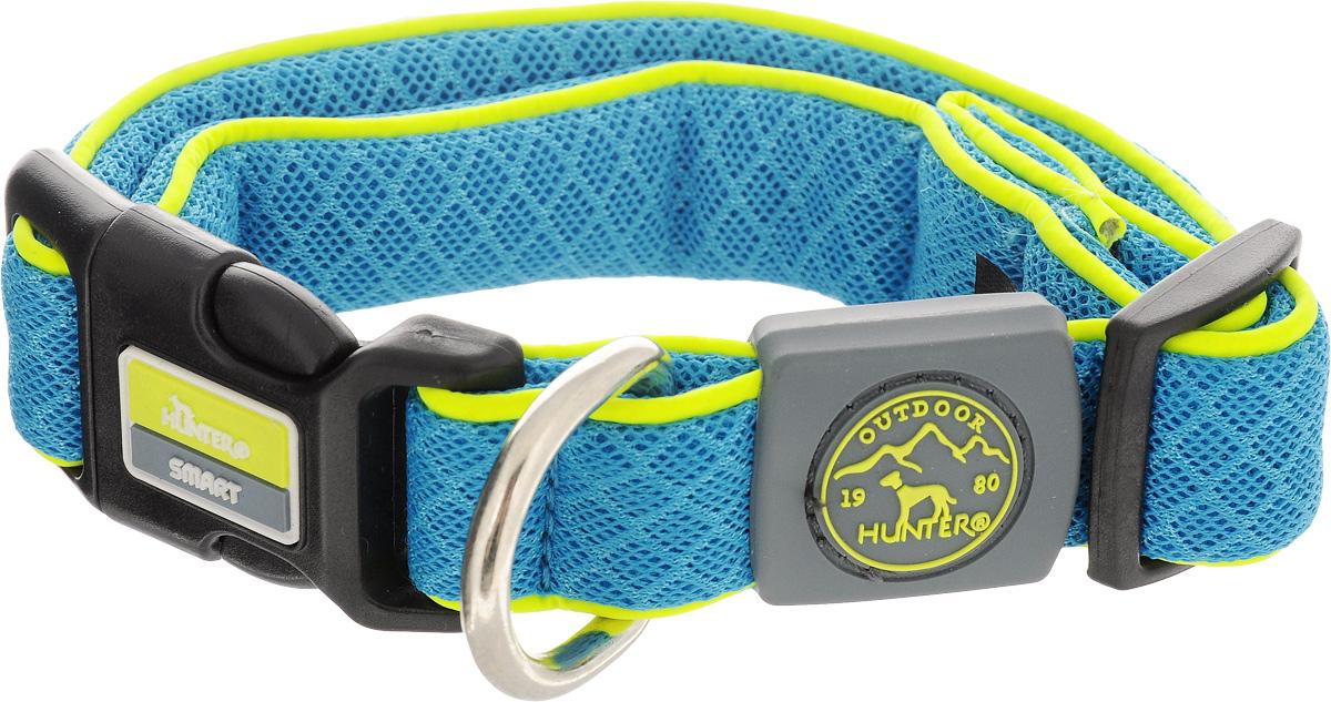 Ошейник для собак Hunter Smart Maui S, цвет: голубой, 32-45 см92692Ошейник для собак Hunter Maui выполнен из невероятно мягкого и легкого сетчатого текстиля. Регулируется по размеру в широком диапазоне. Застегивается на пластиковый карабин, имеет металлическое кольцо для поводка. Обхват шеи: 32-45 см. Ширина ошейника: 2,5 см.