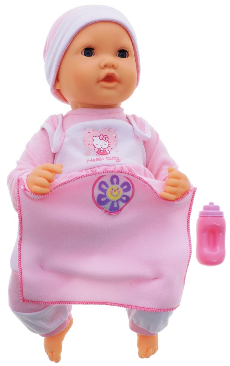 Карапуз Пупс интерактивный Нello Кitty16226-RU-HELLO KITTYПупс интерактивный Карапуз Нello Кitty станет отличным подарком для вашей девочки. Эта замечательная игрушка не даст заскучать ни на секунду. Куколка многофункциональна - она умеет говорить, играть в прятки, моргать, шевелить губами и смеяться. Стоит лишь поднять одеялко наверх и вы все это увидите. Одет пупс в прелестный костюмчик в стиле Нello Кitty. Также в комплект входит бутылочка. Игра с пупсом разовьет в вашей малышке фантазию и любознательность, поможет овладеть навыками общения и научит ролевым играм, воспитает чувство ответственности и заботы. Порадуйте ее таким замечательным подарком! Пупс работает от 3 батареек напряжением 1,5V типа АА (товар комплектуется демонстрационными).